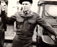 Fooling around in France. He worked in Army Intelligence and with the Merchant Marines.