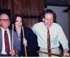 Playing pool and goofing around with Christina Hathaway and George Russell, Jr.